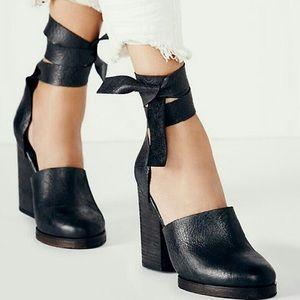 Free People Cora Leather Wrap Heel